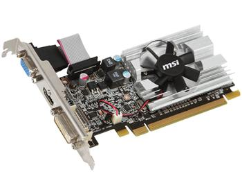 Видеокарта MSI Radeon 6450 1GB DDR3 64bit DVI-VGA- HDMI R6450-MD1GD3/LP