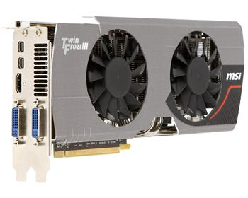 Видеокарта MSI Radeon 6950 2GB DDR5 256bit 2xDVI-miniDP-HDMI TwinFrozr3 Power overclocked R6950-Twin