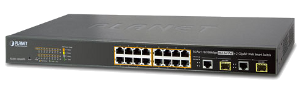 PLANET FGSW-1816HPS 16-портовый Web Smart коммутатор Planet  10/100TX 802.3at PoE + 2-Port Gigabit TP/SFP Combo