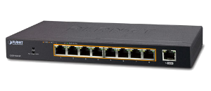 Неуправляемый коммутатор Planet GSD-908HP (8-Port 10/100/1000T 802.3at PoE + 1-Port Gigabit Desktop Switch)